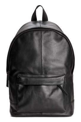 H&M Leather Backpack - Black - Men