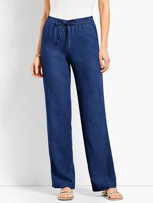 Talbots Linen Wide-Leg Pant