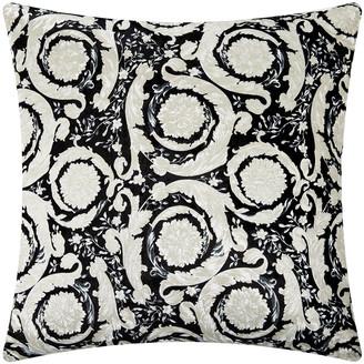 Versace Bavelvet Cushion - 60x60cm - Black/White