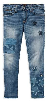 Ralph Lauren Girls' Patchwork Star Jeans - Big Kid