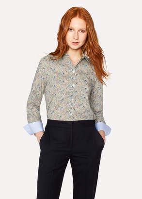 Paul Smith Women's Cream 'Ditsy Floral' Print Cotton Shirt
