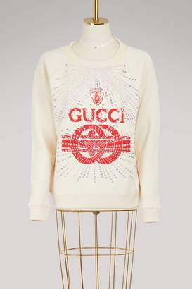 Gucci strass sweatshirt