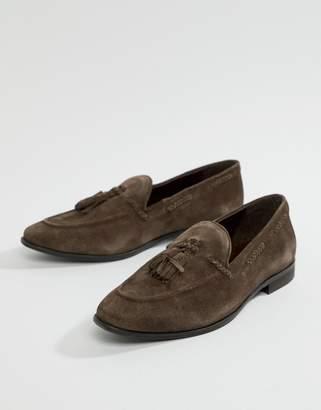 KG by Kurt Geiger Kg Kurt Geiger Tassel Loafers In Brown Suede