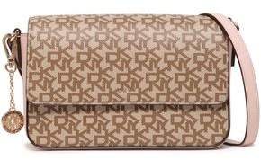 DKNY Printed Faux Textured-leather Shoulder Bag