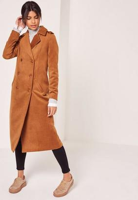 Premium Military Faux Wool Maxi Coat Tan $154 thestylecure.com