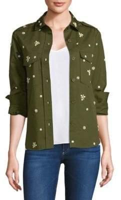 Joie Hayfa Embellished Fatigue Shirt