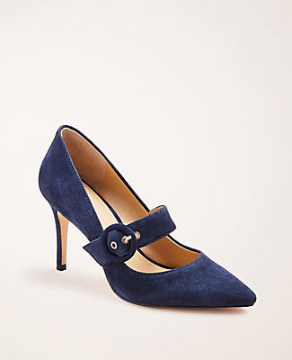 Ann Taylor Narcissa Suede Mary Jane Pumps