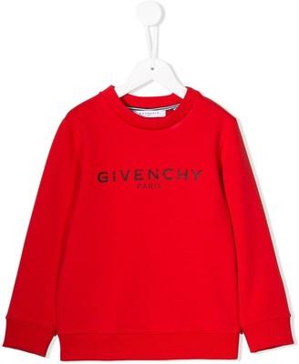 Givenchy Kids logo printed sweatshirt