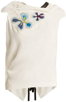 Roland Mouret Eugene embroidered sleeveless top