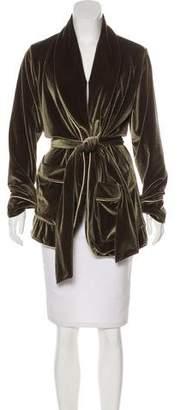 Mother Velvet Tie-Front Jacket