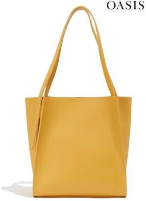 Oasis Womens Yellow Carmen Unlined Shopper Bag - Yellow