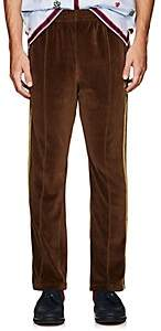 Needles Men's Striped Velour Track Pants - Dk. brown