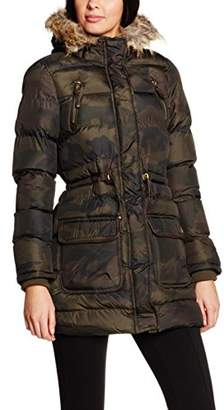 Brave Soul Whispering Smith & Bravesoul Women's Ljk Angelcamo Coat,(36 EU)