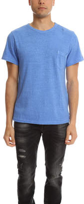 Via Spare Silk Noil Pocket Crewneck Tee