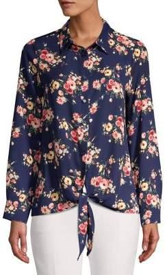 12df633e334f56 Pleione Floral-Print Button-Down Shirt