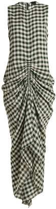 Joseph Zadie sleeveless ruched gingham dress