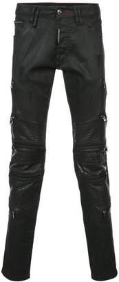 Philipp Plein Zipped Super Straight Cut jeans