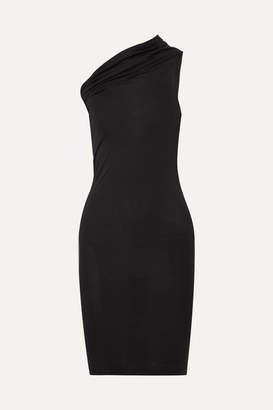 Rick Owens One-shoulder Stretch-jersey Mini Dress - Black