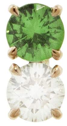Raphaele Canot Confetti Green Tsavorite and Diamond Stud Earring