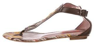 Missoni Thong Ankle-Strap Sandals