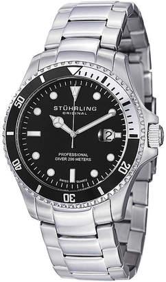 Stuhrling Original Mens Silver Tone Bracelet Watch