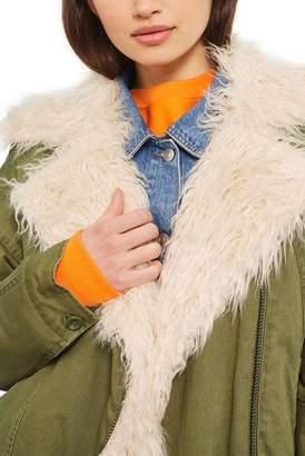Topshop Jake Faux Fur Lined Jacket