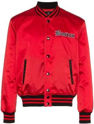 Marcelo Burlon County of Milan Red Sox Bomber Jacket