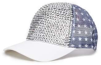 David & Young Stars & Stripes Embellished Baseball Cap