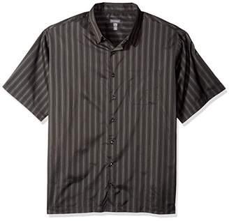 Van Heusen Men's Size Big and Tall Poly Basic Short Sleeve Shirt