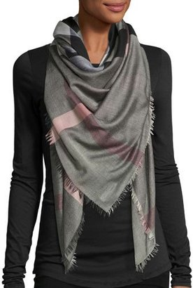 Burberry Relaxed Mega Check Scarf, Brown $295 thestylecure.com