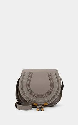 Chloé Women's Marcie Small Leather Crossbody Saddle Bag - Gray