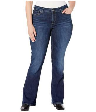 Silver Jeans Co. Plus Size Elyse Mid-Rise Curvy Fit Slim Boot Jeans in Indigo W03601SSX339