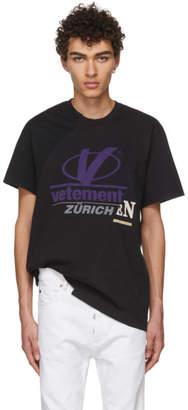Vetements Black Cut-Up T-Shirt