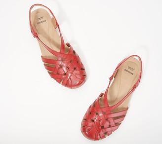 Earth Origins Leather Cross-Strap Sandals - Belle Brielle