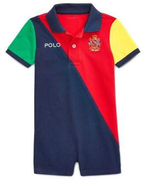 Ralph Lauren Childrenswear Baby Boy's Colorblock Polo Shortalls