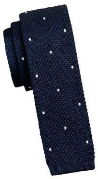 Tommy Hilfiger New Dot Silk-Blend Knit Tie