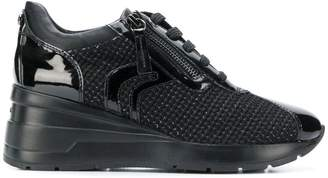 Geox woven lace-up sneakers