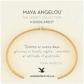 "Dogeared Maya Angelou 2.0 ""Attitude of Gratitude"" Thin Engraved Cuff Bracelet"