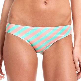 OP Juniors' Swim Bias Stripe Scoop Bikini Swimsuit Bottom
