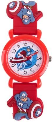 Marvel The Avengers Assemble Captain America Kids' Time Teacher Watch