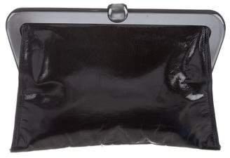 Bottega Veneta Leather Frame Clutch