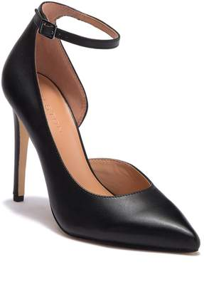Halston Margo Half d'Orsay Leather Pump