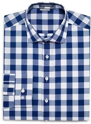Vardama Chambers Exploded-Gingham Regular Fit Dress Shirt