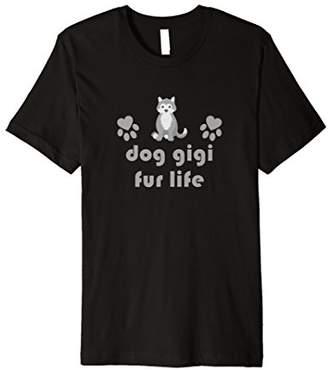 Cute Stylish Dog Gigi Fur Life Husky Lover T-Shirt
