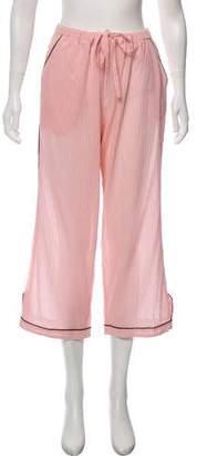 Morgan Lane Patterned High-Rise Lounge Pants w/ Tags