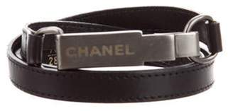 Chanel Logo Waist Belt Black Logo Waist Belt