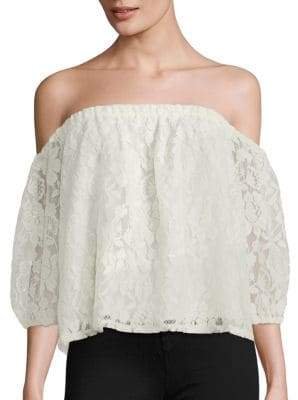 Ella Moss Off-The-Shoulder Lace Blouse