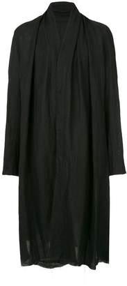 Julius frayed-hem oversized coat
