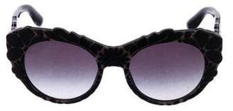 Dolce & Gabbana Floral Cat-Eye Sunglasses