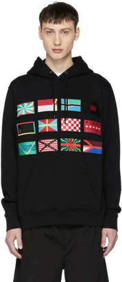 Marcelo Burlon County of Milan Black Flags Hoodie